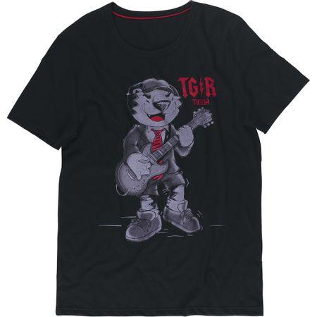 Camiseta Tigor T. Tigre Pai Adulto Preta