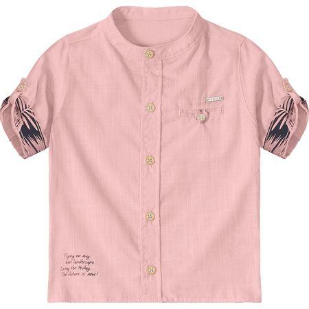 Camisa Tigor T. Tigre de Botão Baby Rosa