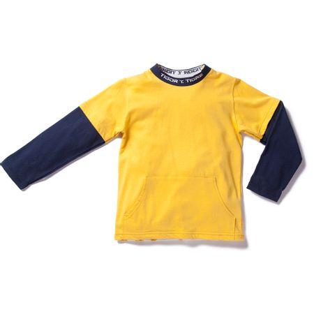 Camiseta Tigor T. Tigre Amarela Menino