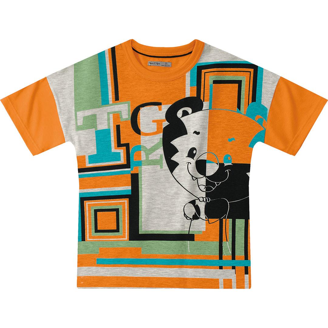 Foto 1 - Camiseta Tigor T. Tigre Laranja Menino