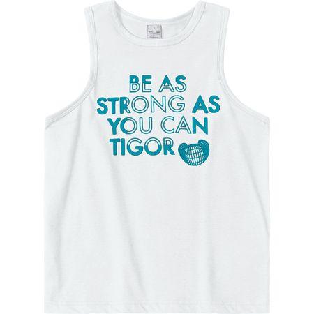 Camiseta Regata Tigor T. Tigre Branca Bebê Menino
