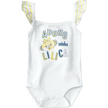 Body Lilica Ripilica Branco Bebê Menina
