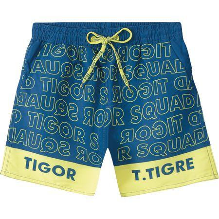 Short Tigor T. Tigre Azul Menino