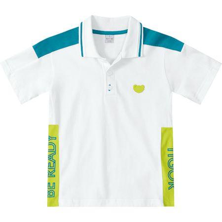 Camisa Polo Tigor T. Tigre Branca Menino