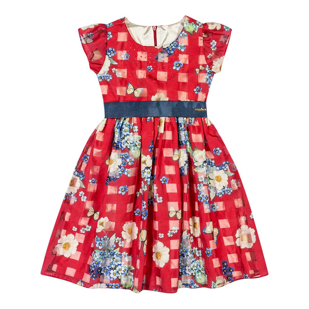 Foto 1 - Vestido Marisol Vermelho Menina