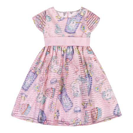 Vestido Marisol Rosa Bebê Menina