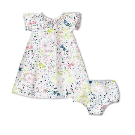 Vestido Com Calcinha Lilica Ripilica Branco Bebê Menina