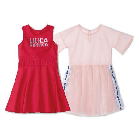 Vestido Lilica Ripilica Vermelho Menina
