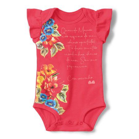 Body Lilica Ripilica Vermelho Bebê Menina