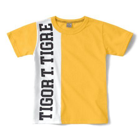 Camiseta Tigor T. Tigre Amarelo Menino