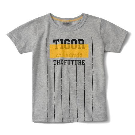 Camiseta Tigor T. Tigre Cinza Menino