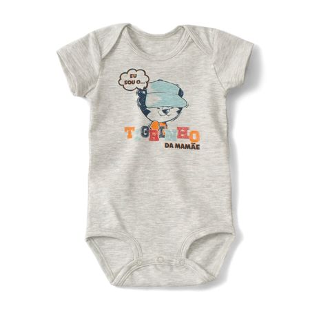 Body Tigor T. Tigre Cinza Bebê Menino