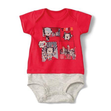 Body Tigor T. Tigre Vermelho Bebê Menino