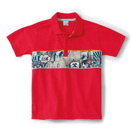 Camisa Polo Tigor T. Tigre Vermelho Menino
