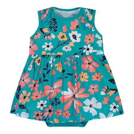 Body Marisol Play Azul Bebê Menina