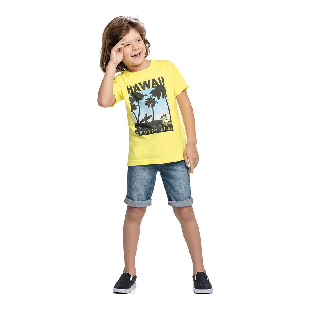 Foto 5 - Camiseta Marisol Play Amarela Menino