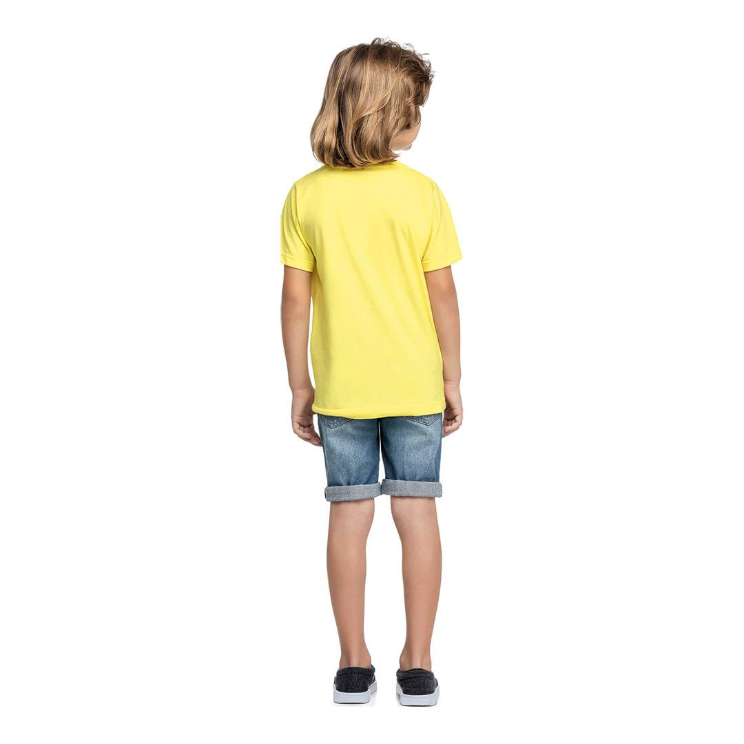 Foto 7 - Camiseta Marisol Play Amarela Menino
