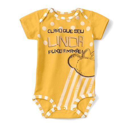 Body Lilica Ripilica Amarelo Bebê Menina