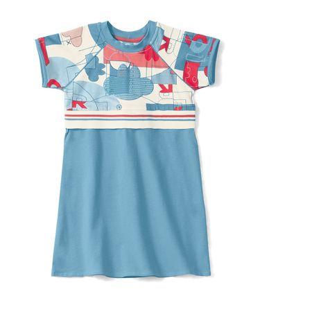 Vestido Lilica Ripilica Azul Bebê Menina
