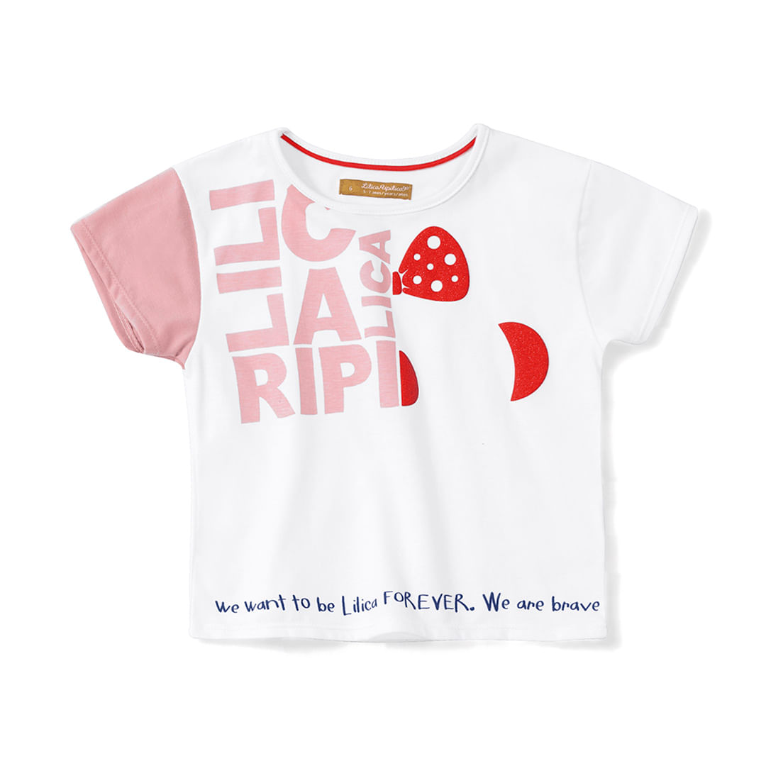 Foto 1 - Blusa Lilica Ripilica Branco Bebê Menina