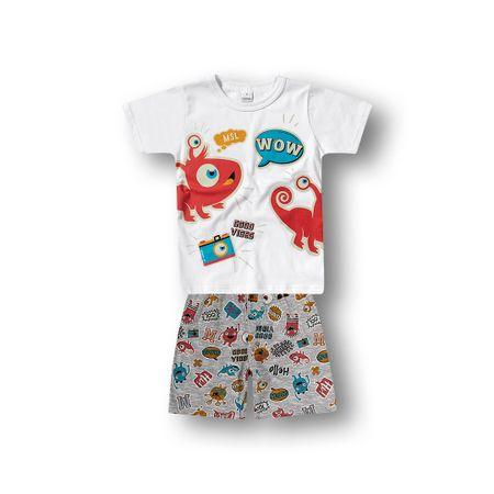 Pijama Marisol Branco Bebê Menino