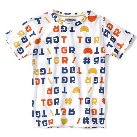 Camiseta Tigor T. Tigre Branca Bebê Menino