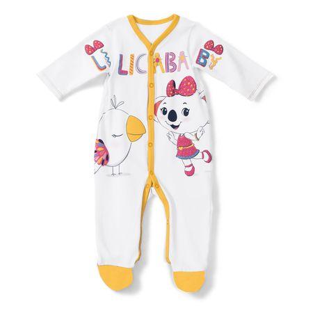 Macacão Lilica Ripilica Branco Bebê Menina
