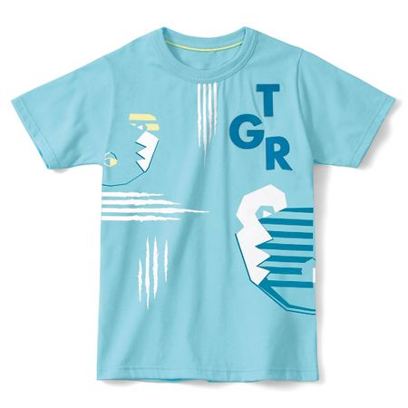 Camiseta Tigor T. Tigre Azul Bebê Menino