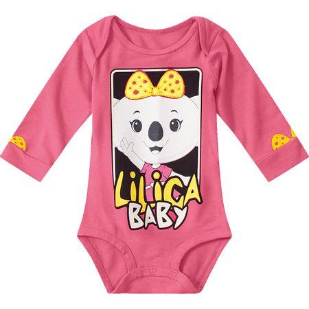 Body Lilica Ripilica Rosa Bebê Menina