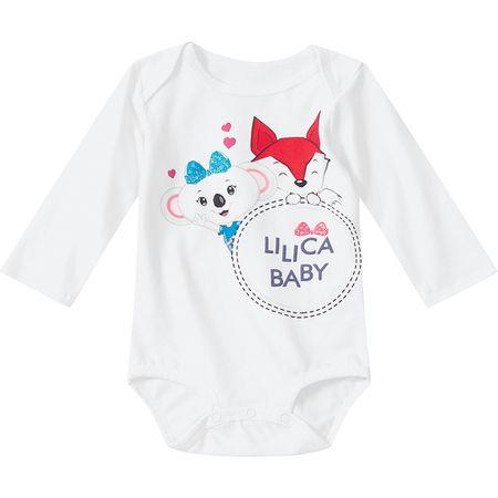 Kit Body Lilica Ripilica Branco Bebê Menina