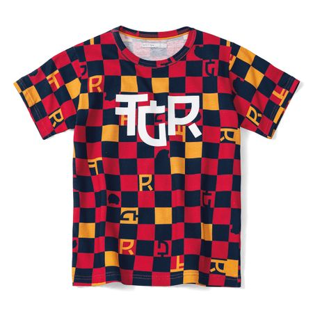 Camiseta Tigor T. Tigre Vermelha Menino