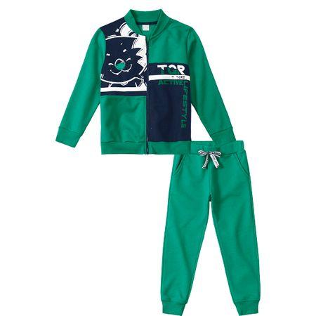 Conjunto Tigor T. Tigre Verde Menino