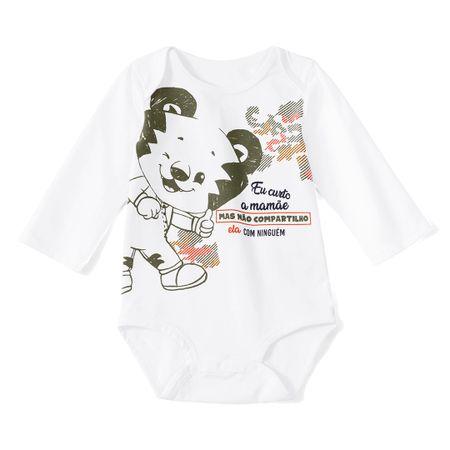 Kit Body 2 Pecas Tigor T. Tigre Branco Bebê Menino
