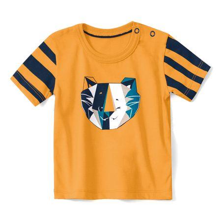 Camiseta Tigor T. Tigre Laranja Bebê Menino