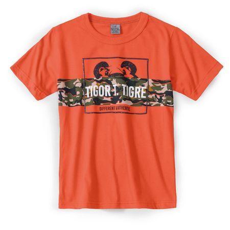 Camiseta Tigor T. Tigre Laranja Menino