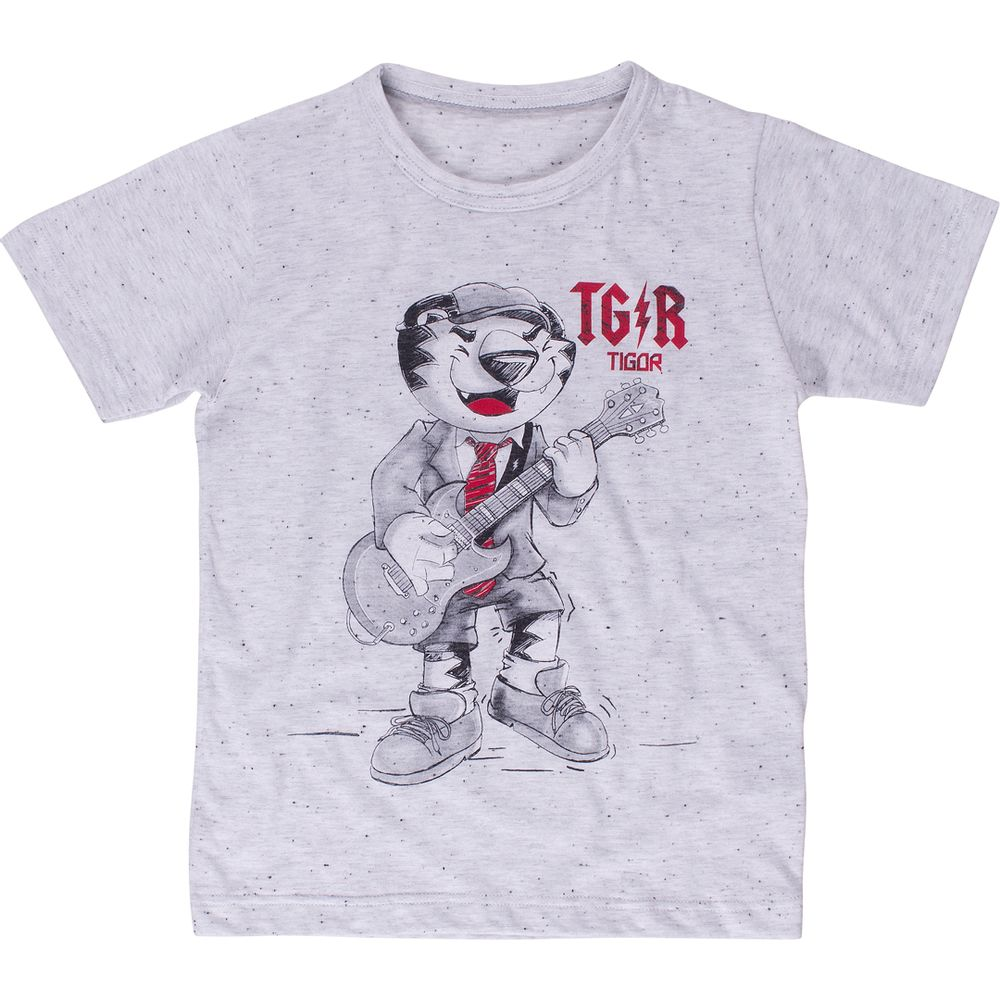 aa75198143 Camiseta Tigor T. Tigre Pai Adulto Cinza - lojamarisol