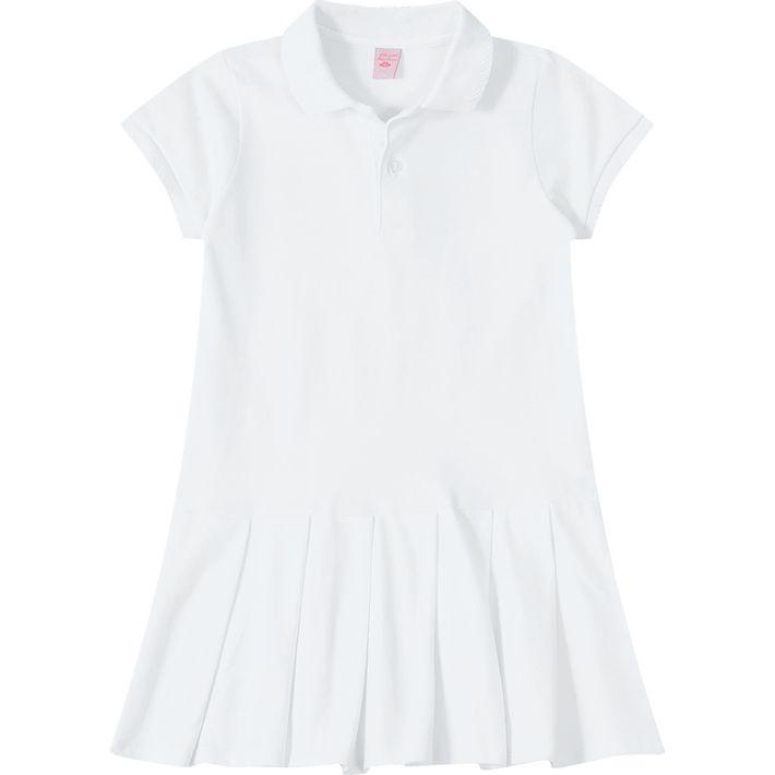 a7f446356e Vestido Pólo Lilica Ripilica Branco - lojamarisol