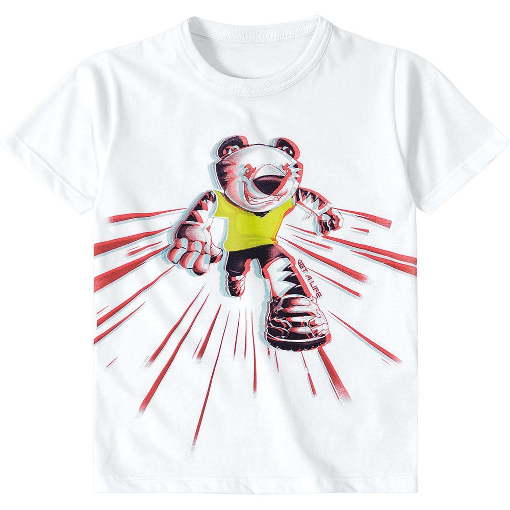 d1a73c2c52 Camiseta Estampa 3D Tigor T. Tigre Branca - lojamarisol