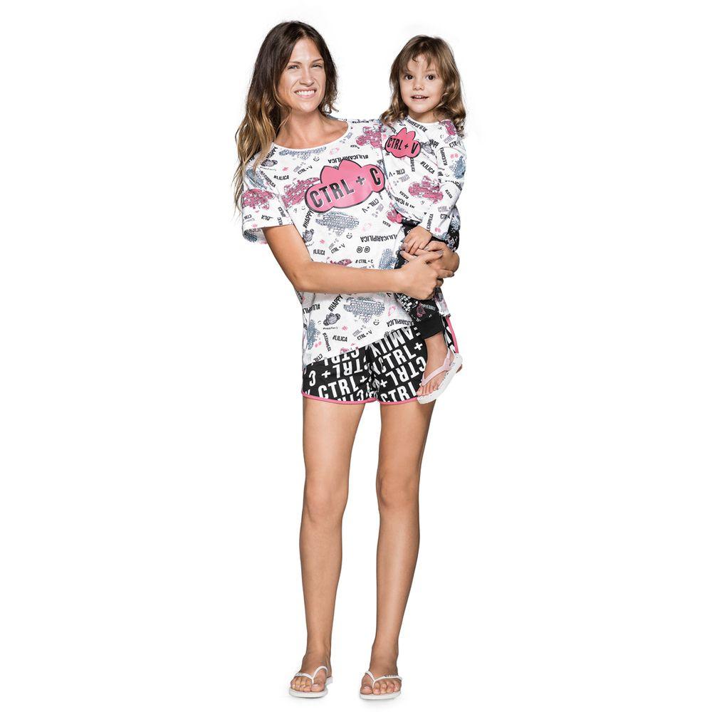 9403b7ee4de44a Pijama Lilica Ripilica Tal Mãe Tal Filha Baby Branco