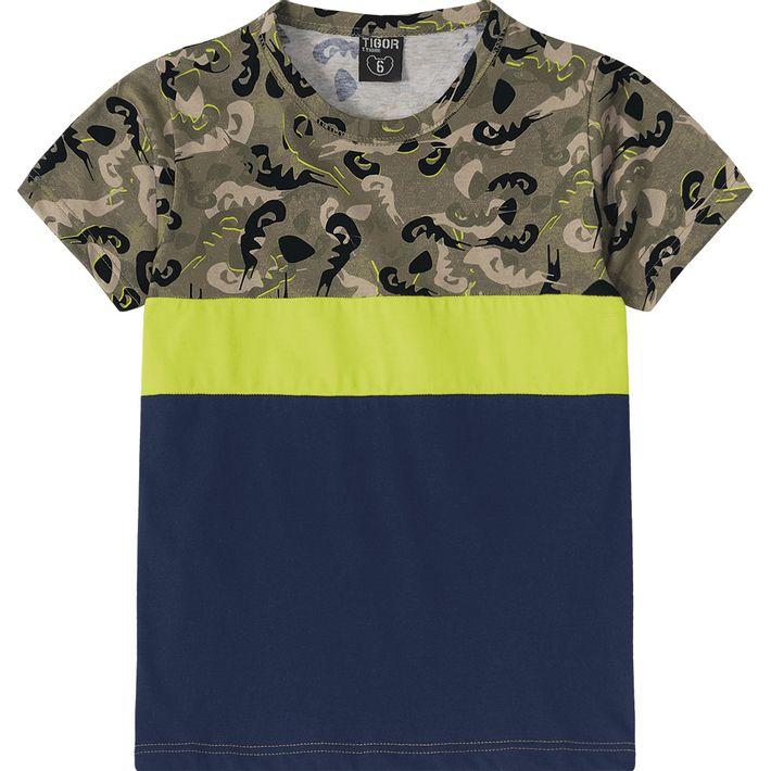 Camiseta Tigor T. Tigre Verde - lojamarisol 0ec6ce3ab45