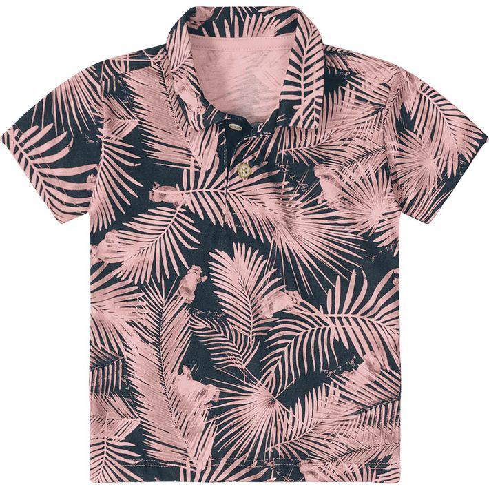 d1dbe8740b Camisa Pólo Tigor T. Tigre Baby Estampada - lojamarisol