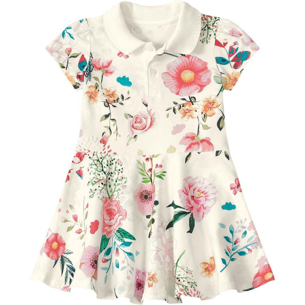 74df85afc4 Vestido Lilica Ripilica Branca Bebê Menina - lojamarisol