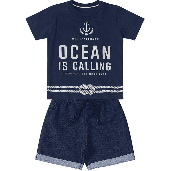 Conjunto Marisol Ocean Bebê Menino - lojamarisol 289f91ebde9