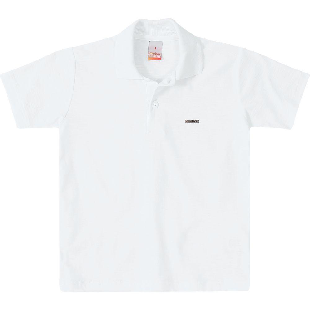 ad38c66e7e Camisa Polo Marisol Branco Menino - lojamarisol
