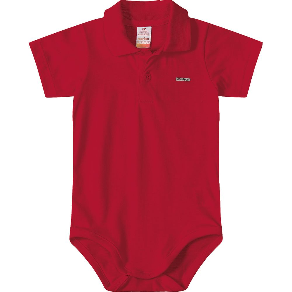 c1f2400138 Body Polo Marisol Vermelho Bebê Menino - lojamarisol