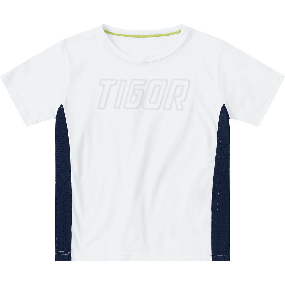 f5e4cc7220 Camiseta Tigor T. Tigre Branca Menino - lojamarisol