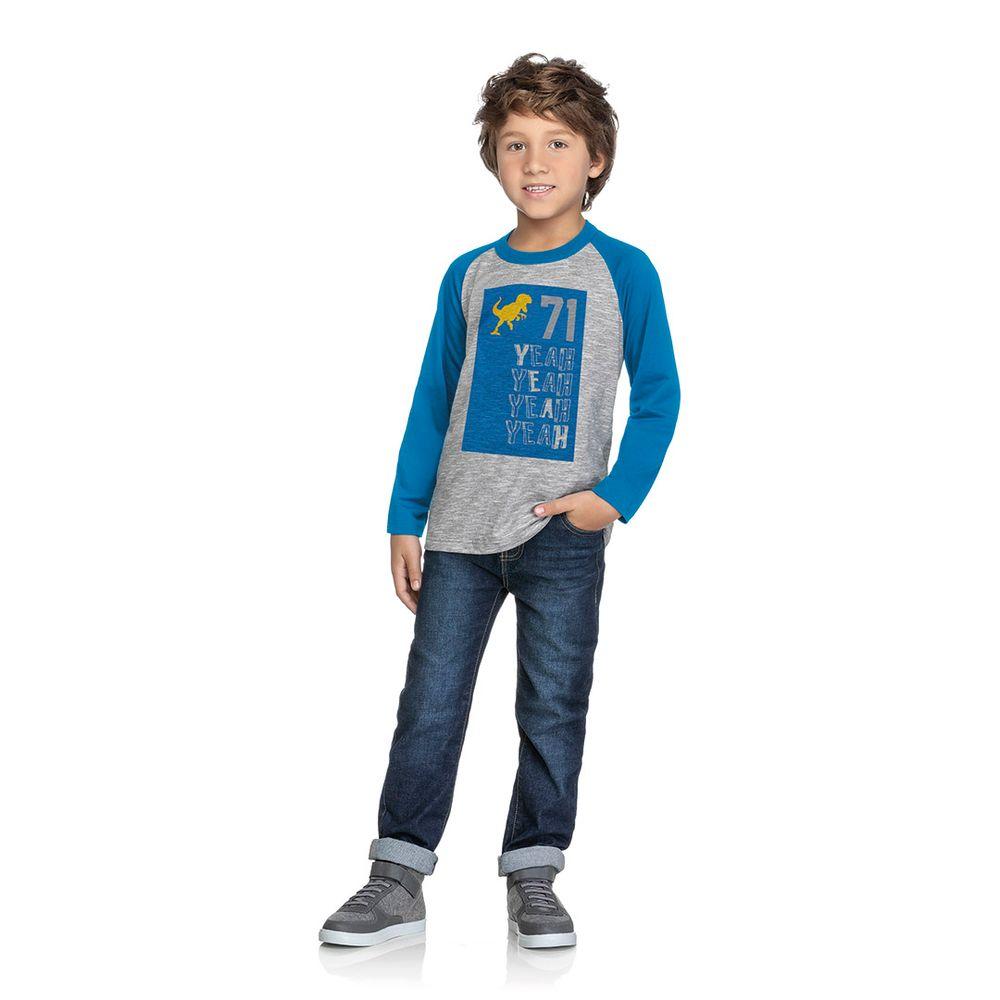 37250925b Camiseta Marisol Play Cinza Bebê Menino - lojamarisol