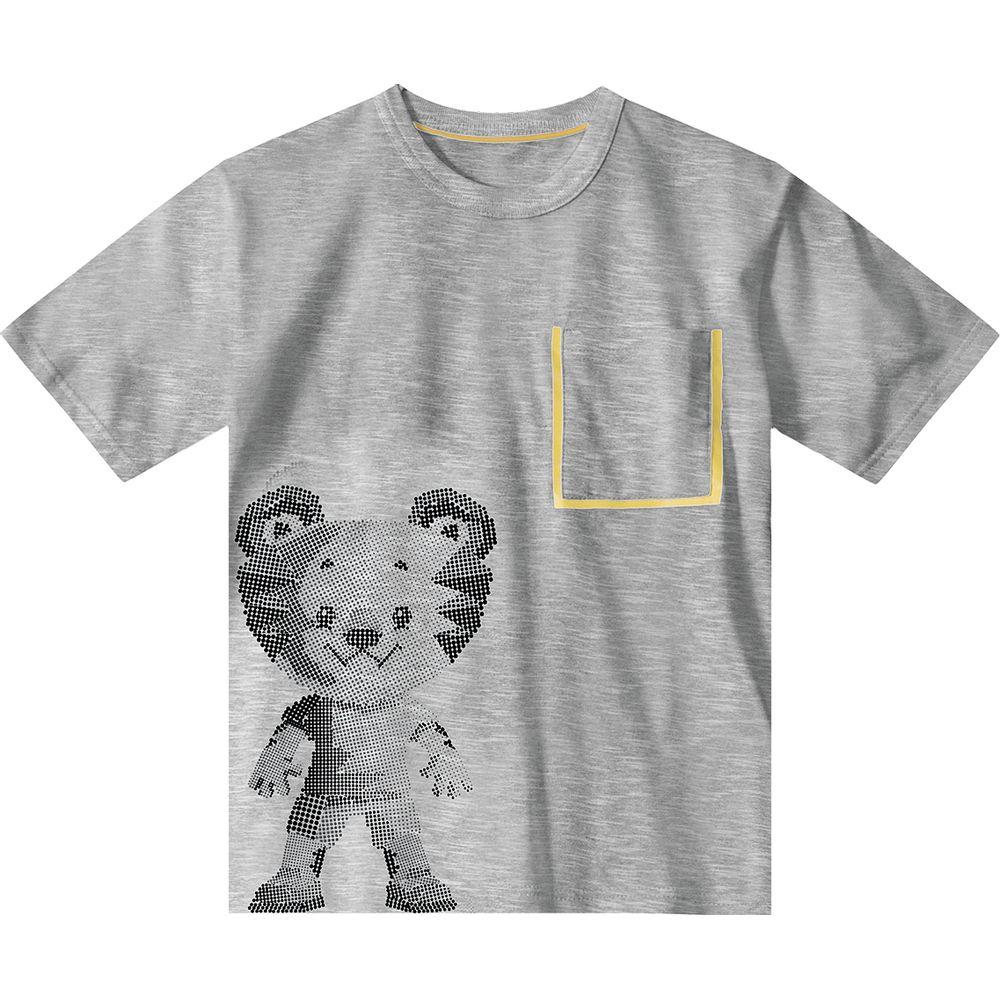 35e66366ff Camiseta Tigor T. Tigre Cinza Menino - lojamarisol