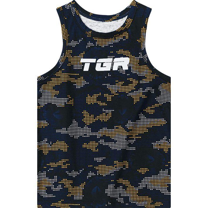 Camiseta Regata Tigor T. Tigre Azul Bebê Menino - lojamarisol bc3706c1a6bff