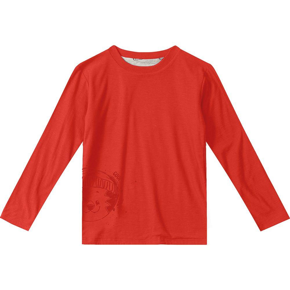 9065069fe Camiseta Dupla Face Tigor T. Tigre Vermelha Bebê Menino - lojamarisol